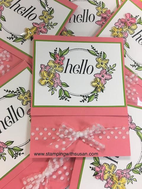Stampin' Up!, Stampin' Blends, Floral Frames, www.stampingwithsusan.com