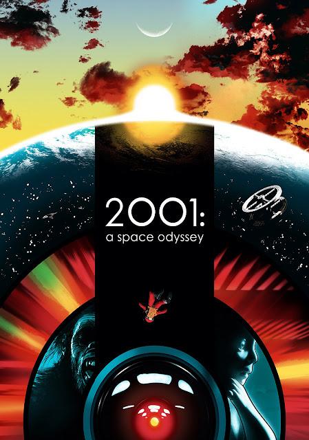 Poster de la película Space Odisey de Stanley Kubric