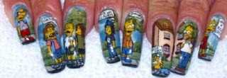 The Simpson nail designs