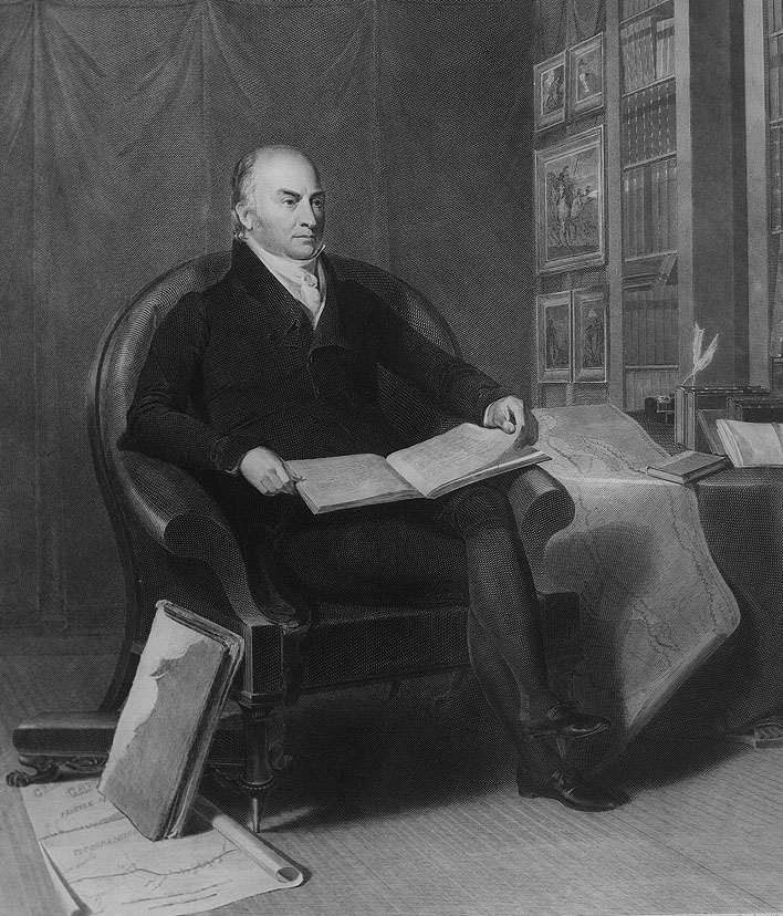 The biography and life work of john quincy adams 6th president of the united states