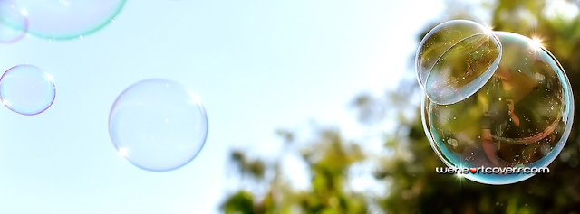 Bubbles Floating in the Sky Facebook Covers - Weheartcovers.com