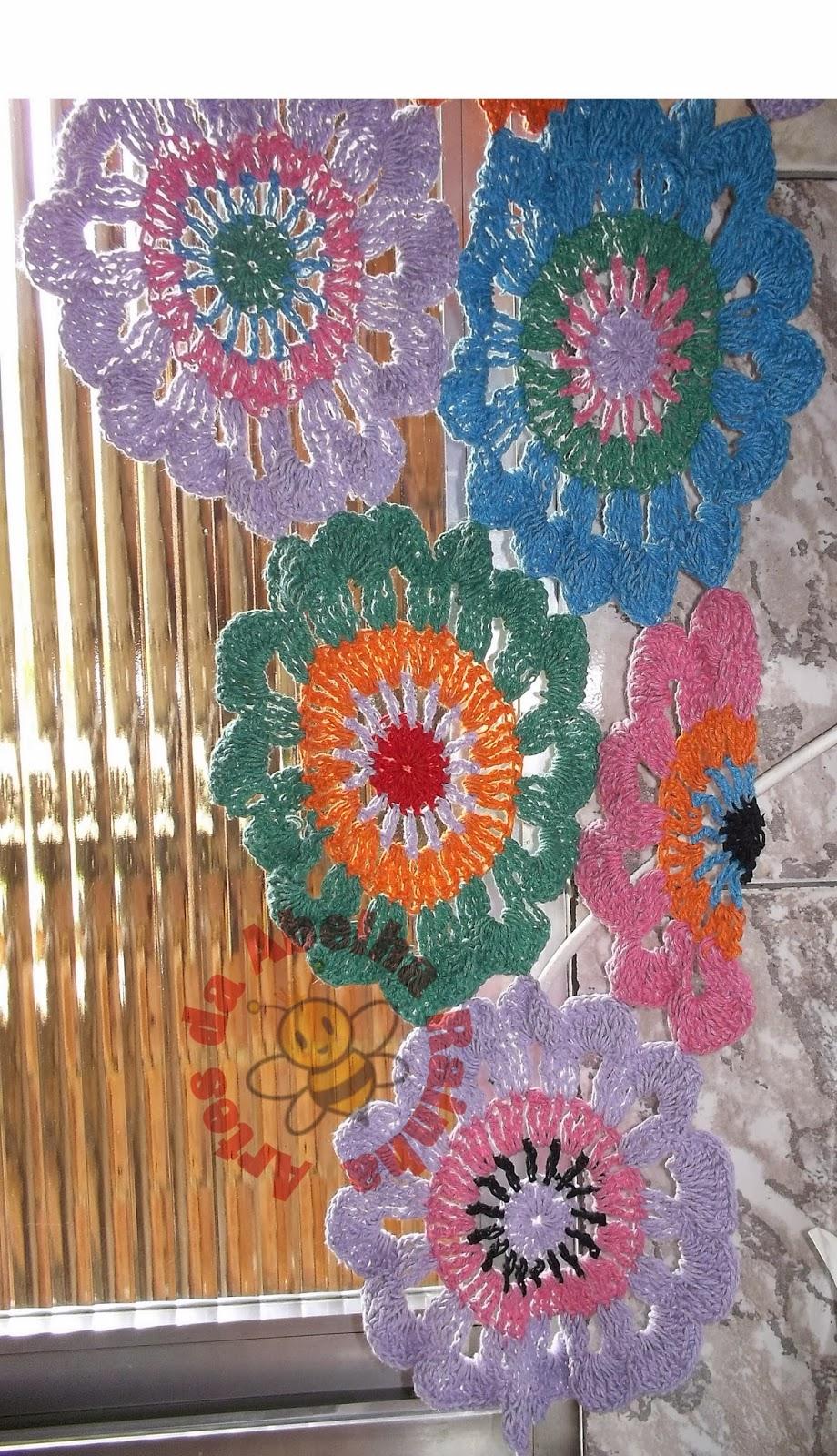 Cortina De Croche Para Cozinha Com Flores Oppenau Info