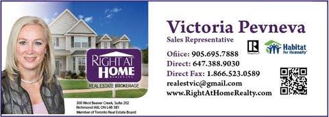 Victoria Pevneva, Sales Representative  Right at Home Realty Inc.