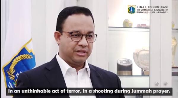 Lewat Video Berbahasa Inggris, Anies Sampaikan Duka Jakarta untuk Muslim Selandia Baru