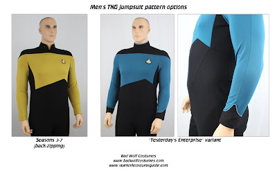 Star Trek TNG Men's Jumpsuit Sewing Pattern