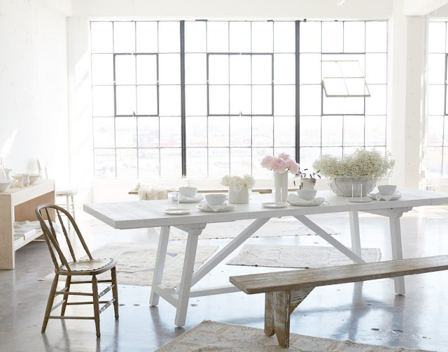 White Scout table by Rachel Ashwell Shabby Chic