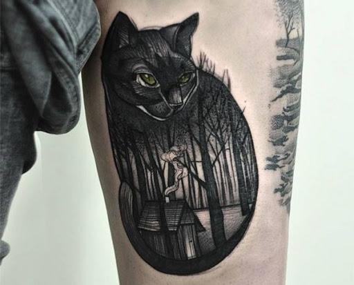 Floresta do Gato Preto o Projeto da Tatuagem