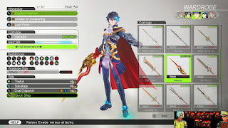 Equipment selection for Itsuki in Tokyo Mirage Sessions #FE