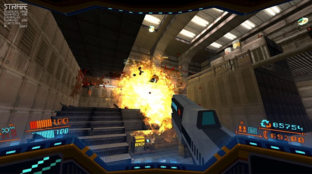 Strafe Gameplay Players can upgrade their weapons