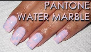 Pantone Colors | Water Marble Marble | Nail Art Tutorial