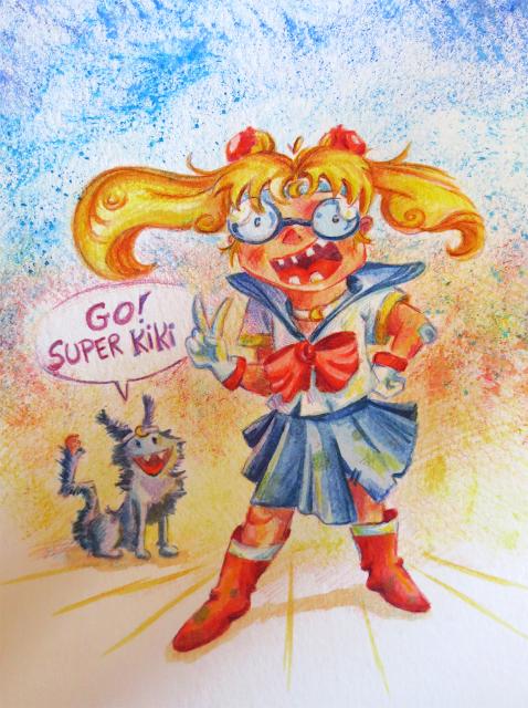 Lise-Marie Moyen Sailor Moon et luna
