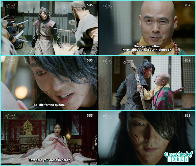 4th prince wang so fight with monk and other people - Moon Lovers: Scarlet Heart Ryeo - Episode 3 Review