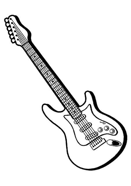 Gambar Mewarnai Gitar - 3