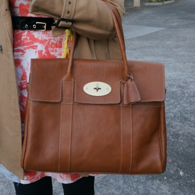 Mulberry Heritage Bayswater in Oak NVT leather | away from the blue