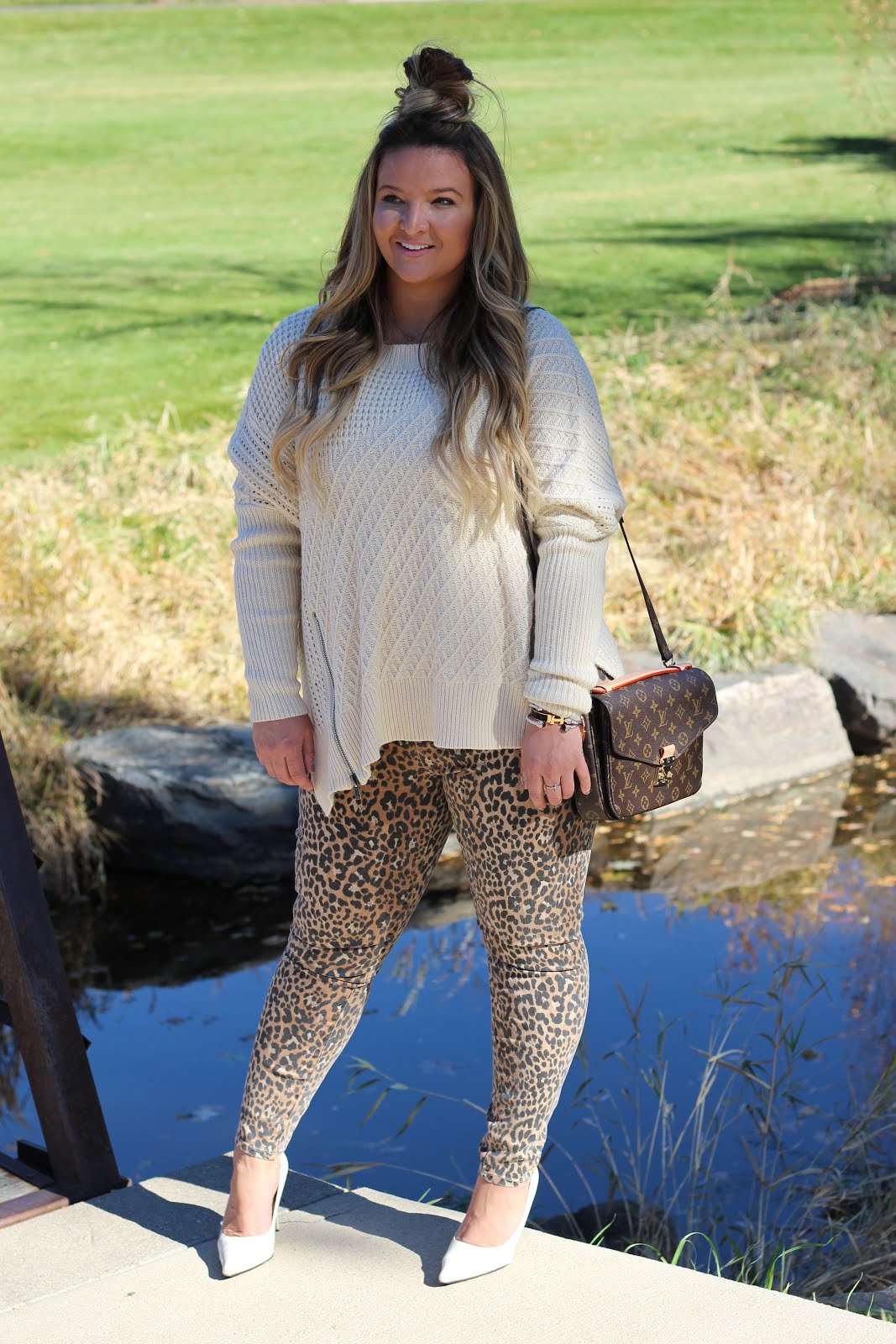 Leopard Pants are better than the usual blue jeans by fashion blogger Delayna Denaye