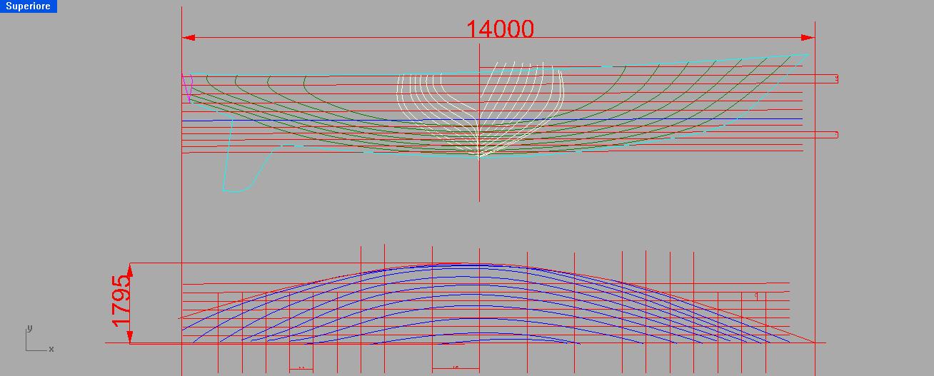 Yacht design progettazione nautica vettorializzare un for Come disegnare piani di costruzione