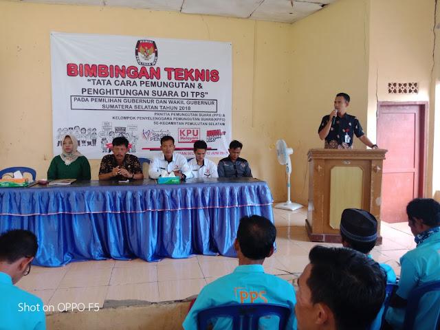 PPK Kecamatan Pemulutan Selatan Gelar Bimtek