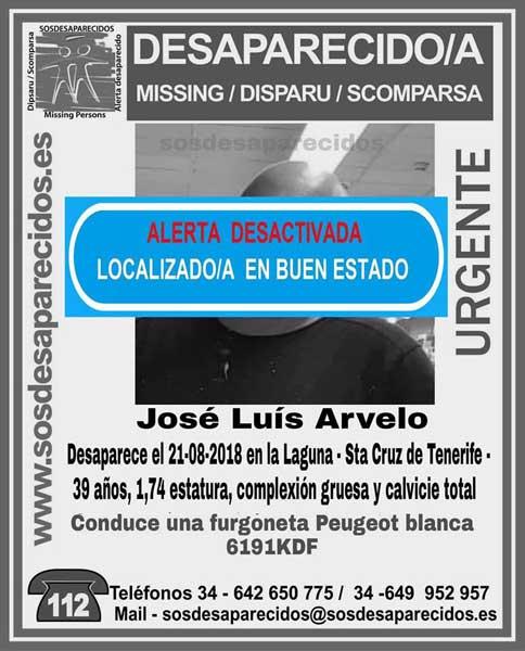 Localizado buen estado José Luis Arvelo,  desaparecido en La Laguna, Tenerife