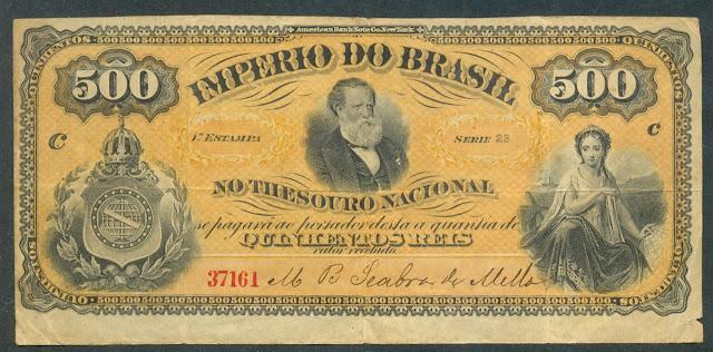 World paper money Brazilian Currency Reis banknote bill