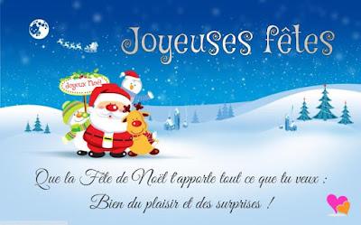 Vœux de joyeuses fêtes de Noël