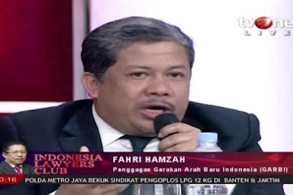 Di ILC, Fahri Hamzah Menggugat Kedua Kandidat Capres 2019, Jokowi dan Prabowo