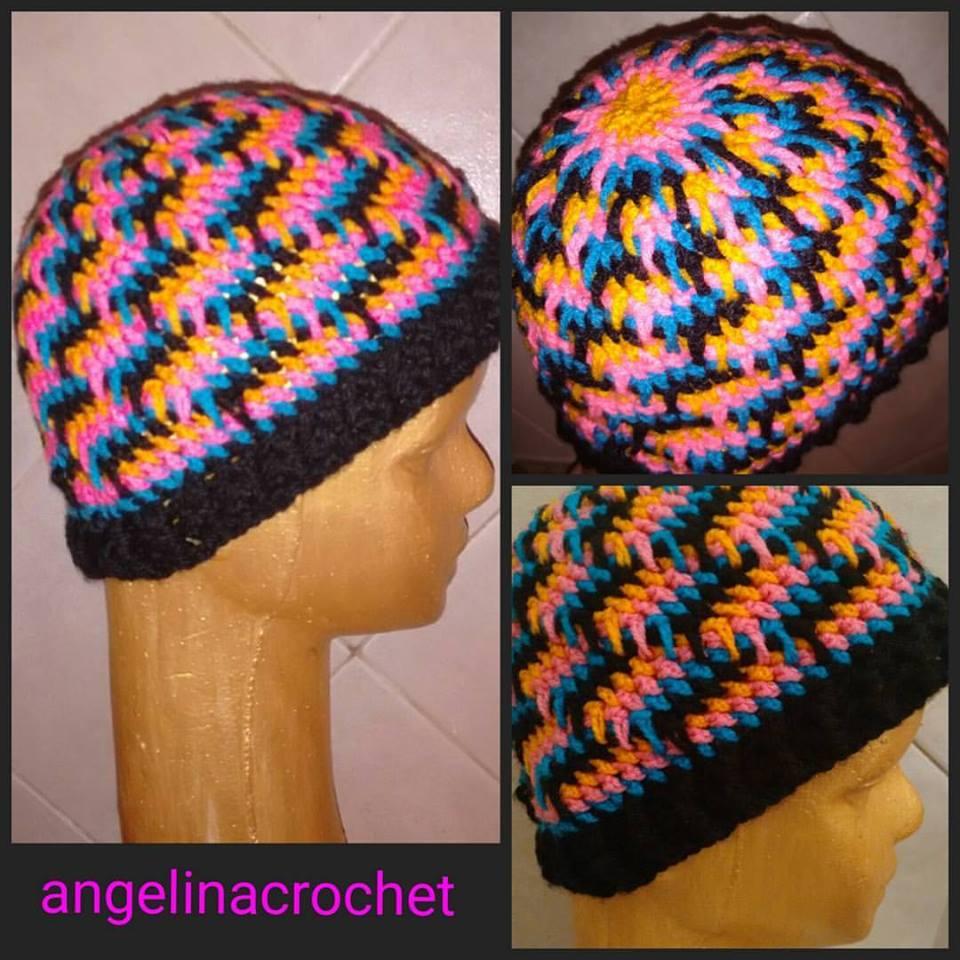 Angelina -crochet and more-: Gorro a crochet, punto lagrima de ...
