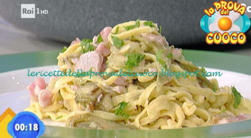 Tagliolini con carciofi e tonno fresco ricetta Bertol da Prova del Cuoco
