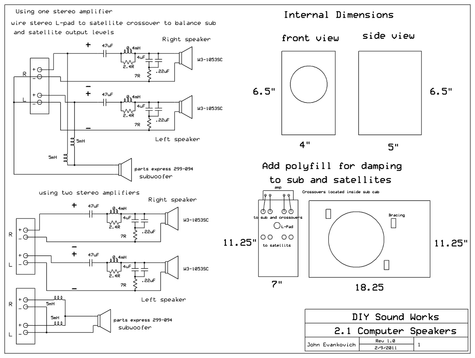 Pc Speaker Wiring Diagram Library In Wall