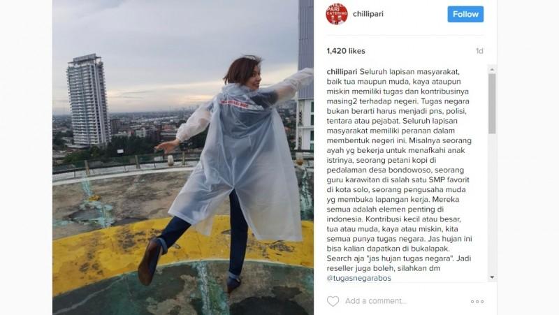 Najwa Shihab jadi bintang iklan jas hujan bisnis putra Jokowi