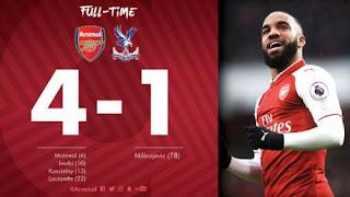 Arsenal Hajar Crystal Palace 4-1