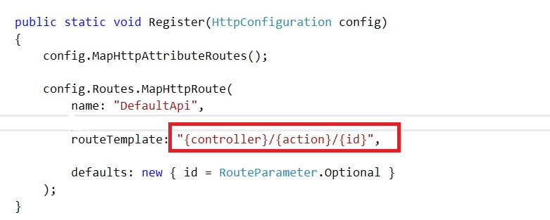 Configuring Routing Template for Multiple POST GET DELETE in