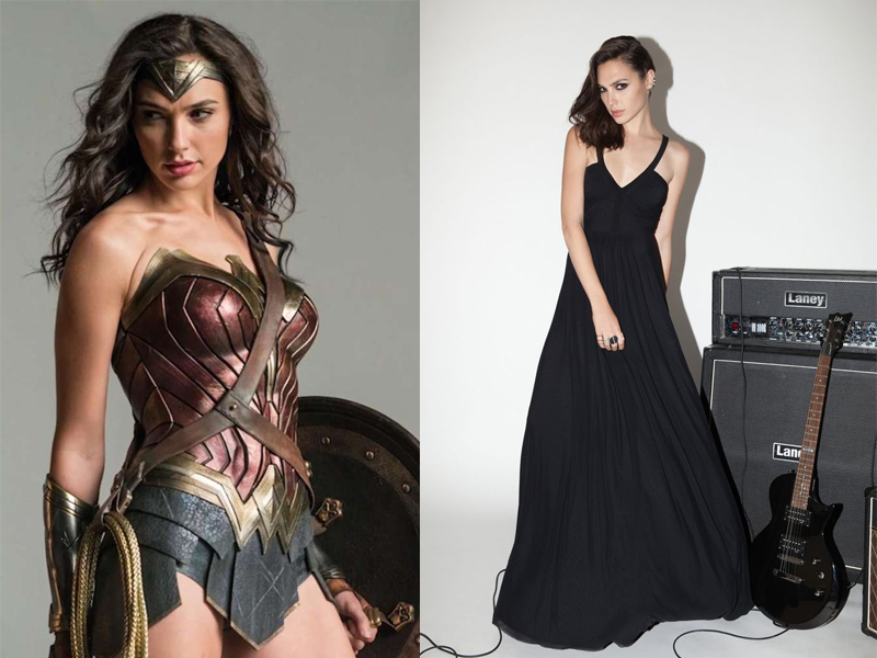 Wonder Women di film Batman Vs Superman oleh Gal Gadot paha mulus Gal Gadot pakai rok super pendek