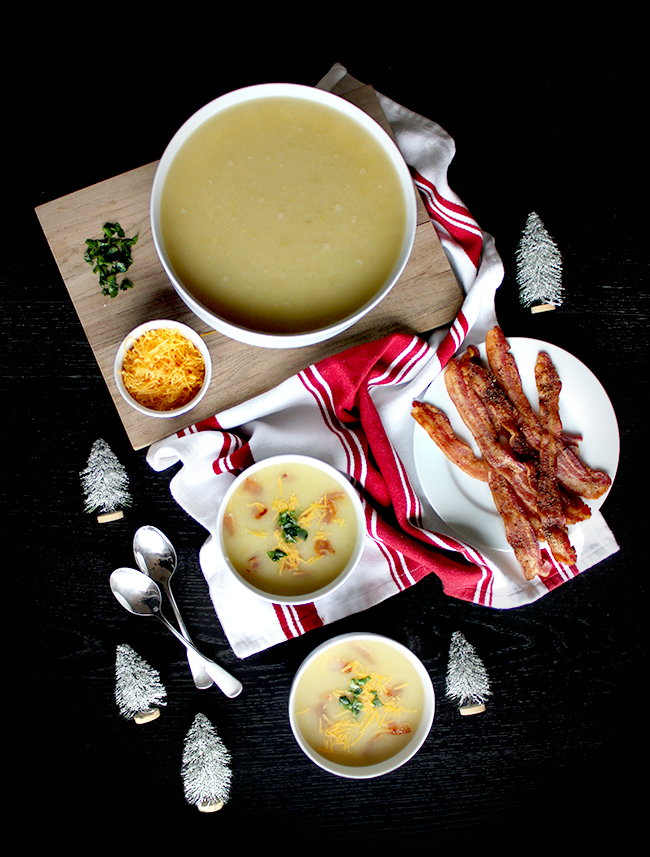 Potato Leek Soup, Two Ways