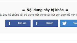 Share like post Facebook để mở khóa nội dung bằng cách sử dụng jQuery & Facebook API cho blogspot