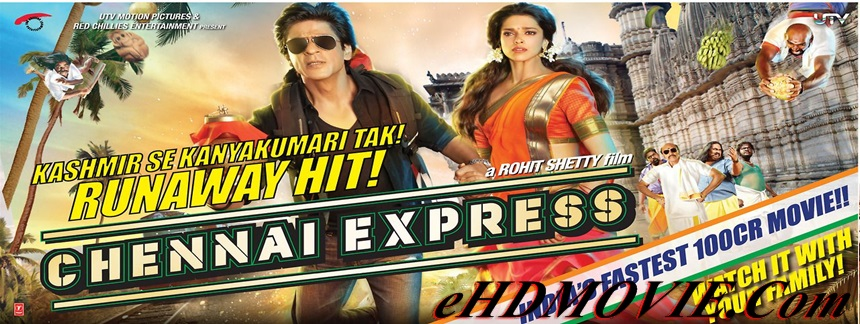 Chennai Express 2013 Full Movie Hindi 720p & 480p ORG BRRip 400MB - 1GB ESubs Free Download