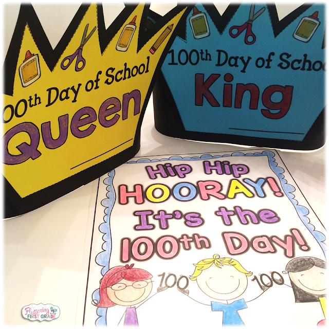 100th Day of School crowns, coloring pages and more!