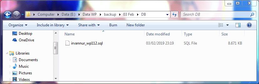 Cara Backup WordPress Secara Manual Melalui cPanel 6