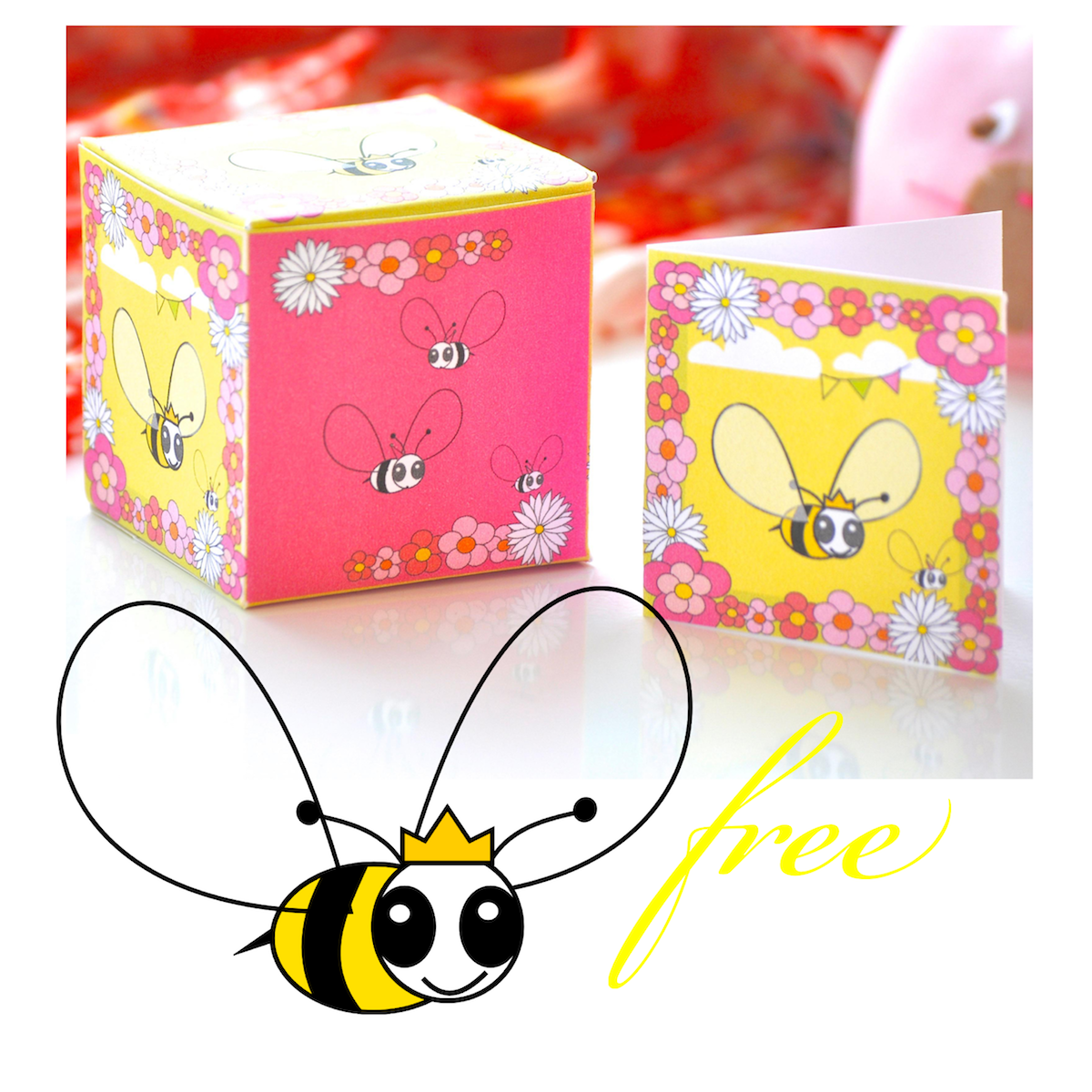 image relating to Free Printable Bee Template referred to as Totally free electronic bee sbooking paper + box template