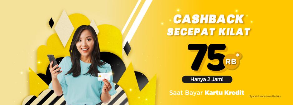 Tokopedia - Voucher Cashback Secepat Kilat s.d 75 Ribu (Hari ini Jam 10 - 12 Siang)