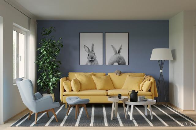 40 Desain Ruang Tamu Nuansa Biru Ciptakan Suasana Sejuk Dan Santai Rumahku Unik