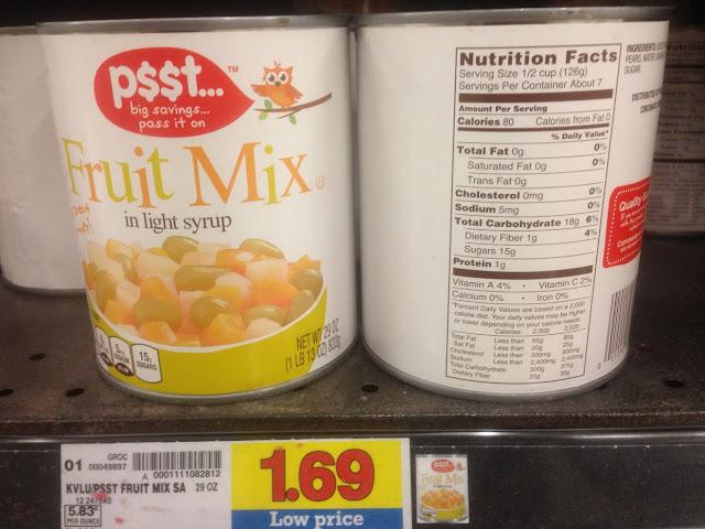 Fruit Mix, 29 oz, Psst - Kroger