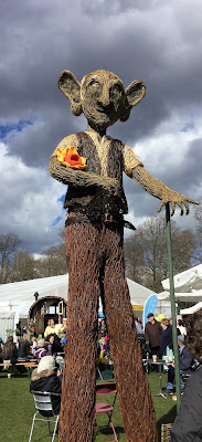 Pic of Dahl's BFG giant made out of wicker