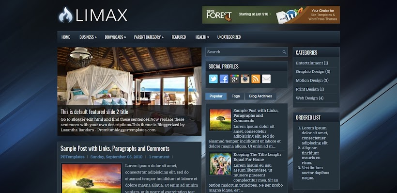 Limax Free Blogger Template