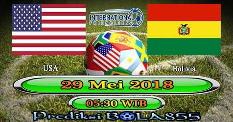 Prediksi Bola855 USA vs Bolivia 29 Mei 2018