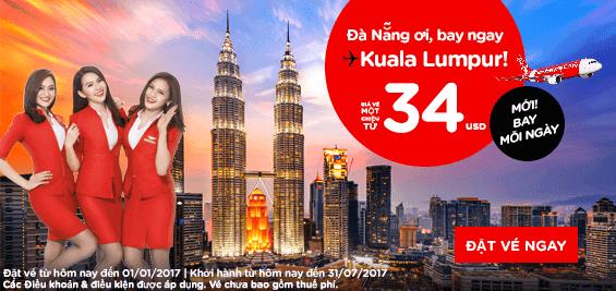 Khuyến mãi Air Asia đầu năm mới 2017 giá chỉ từ 6 USD