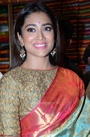 Shriya Saran Looks Stunning in Silk Saree at VRK Silk Showroom Launch Secundrabad ~  Exclusive 006.JPG