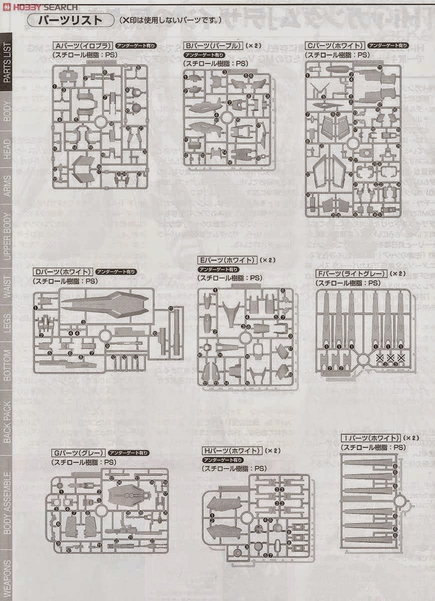 Gundam Family: MG 1/100 Hi-Nu Gundam Ver. Ka (Instruction