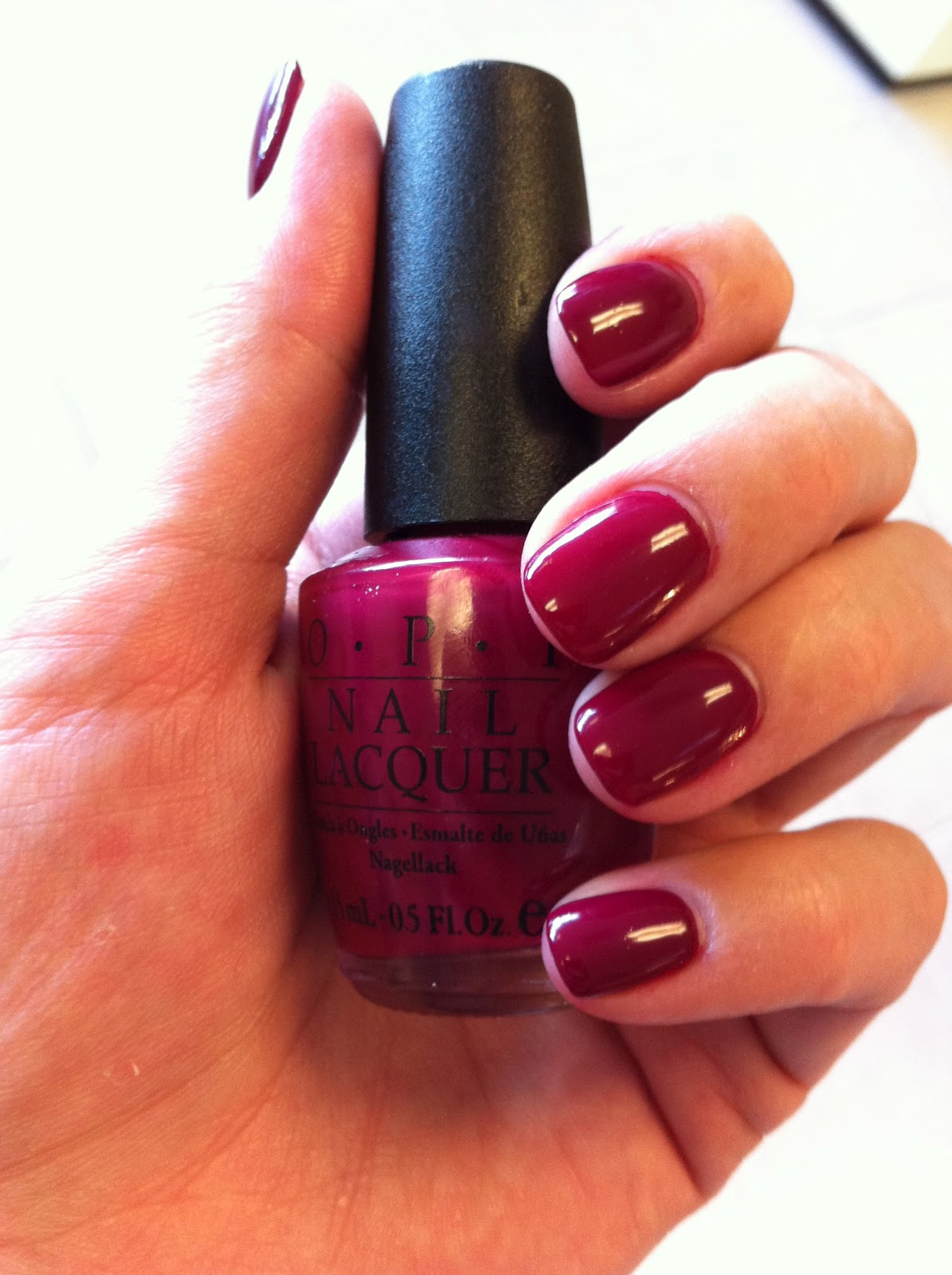 My Nail Polish Obsession My Birthday Nails: OPI My Throne For A Cranberry Scone Dupe