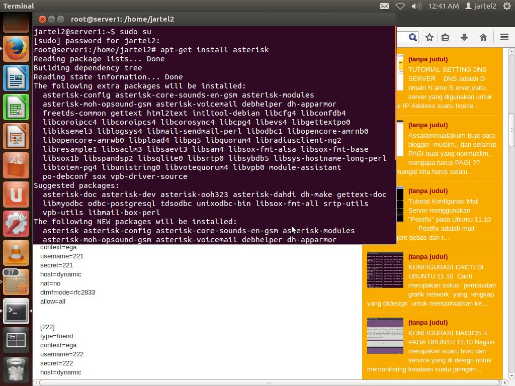 Membuat Server VOIP Dengan Asterisk Di Ubuntu | Blog Ahmad