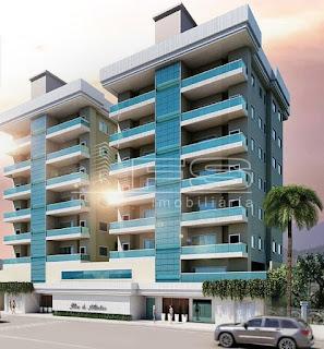 ref: 831 - Residencial Ilhas do Atlântico - Apartamento 2 suítes + 1 dormitório - Meia Praia - Itapema/SC